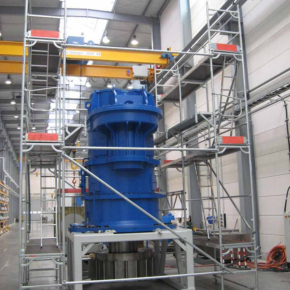 Przykład zastosowania rusztowania w procesie produkcji - elastyczne zastosowanie z możliwością użycia dźwigu