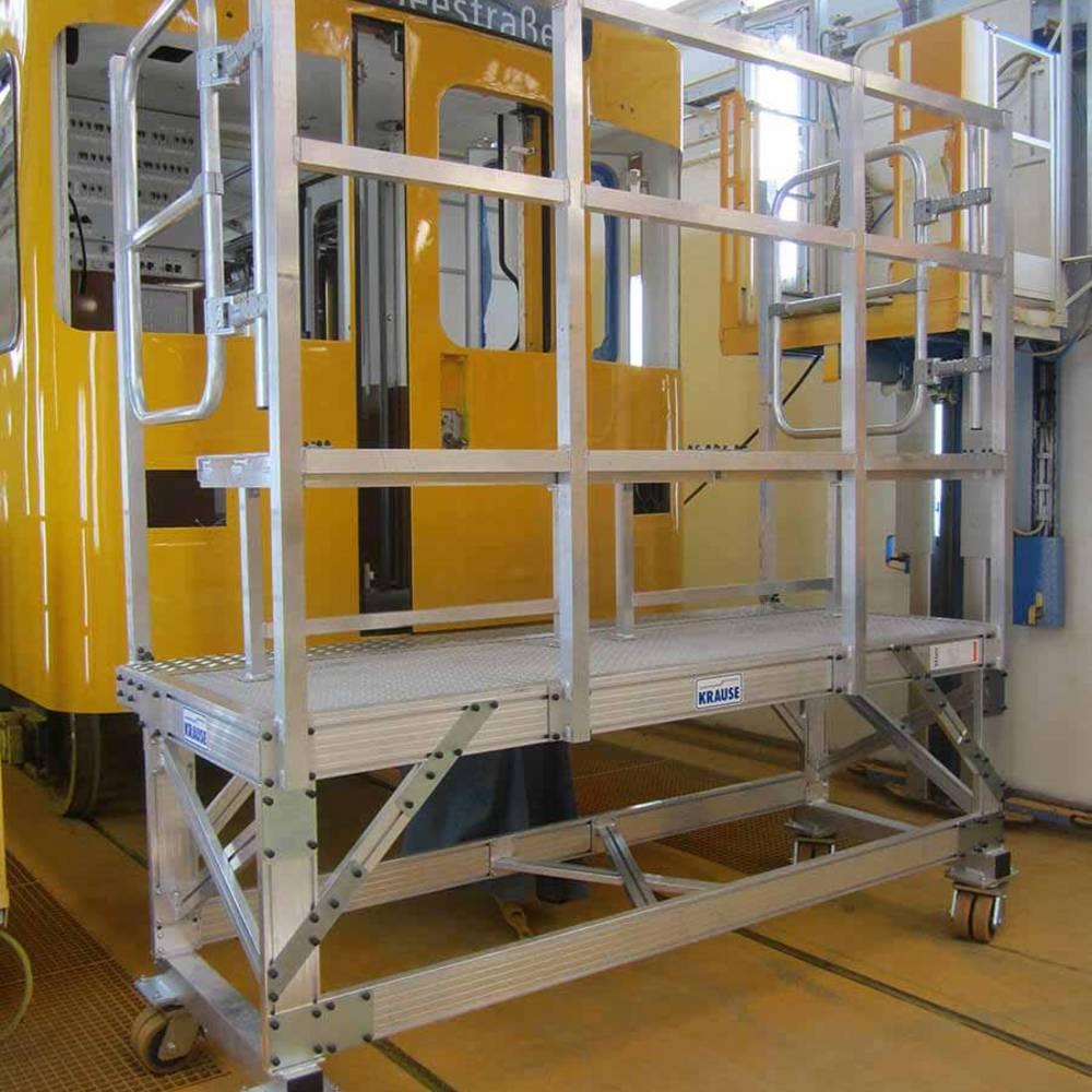 Mobilna platforma robocza wykorzystywana przy pracach konserwacyjnych podziemnych pojazdów szynowych