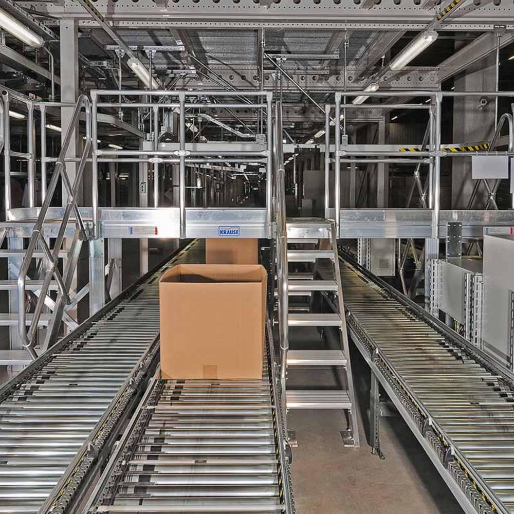 Przykład pomostu przejściowego dopasowanego do linii produkcyjnej zakładu
