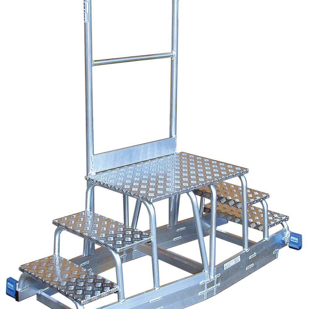 Schodek specjalny KRAUSE jako mocowanie do systemu szynowego - rozwiązanie specjalne z aluminium