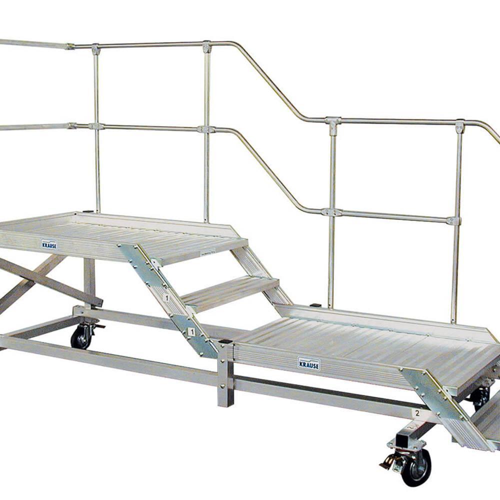 Jezdna platforma robocza z jednostronnymi barierkami