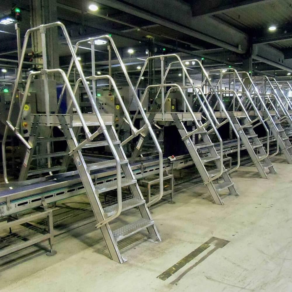 Pomosty przejściowe w zakładzie produkcyjnym
