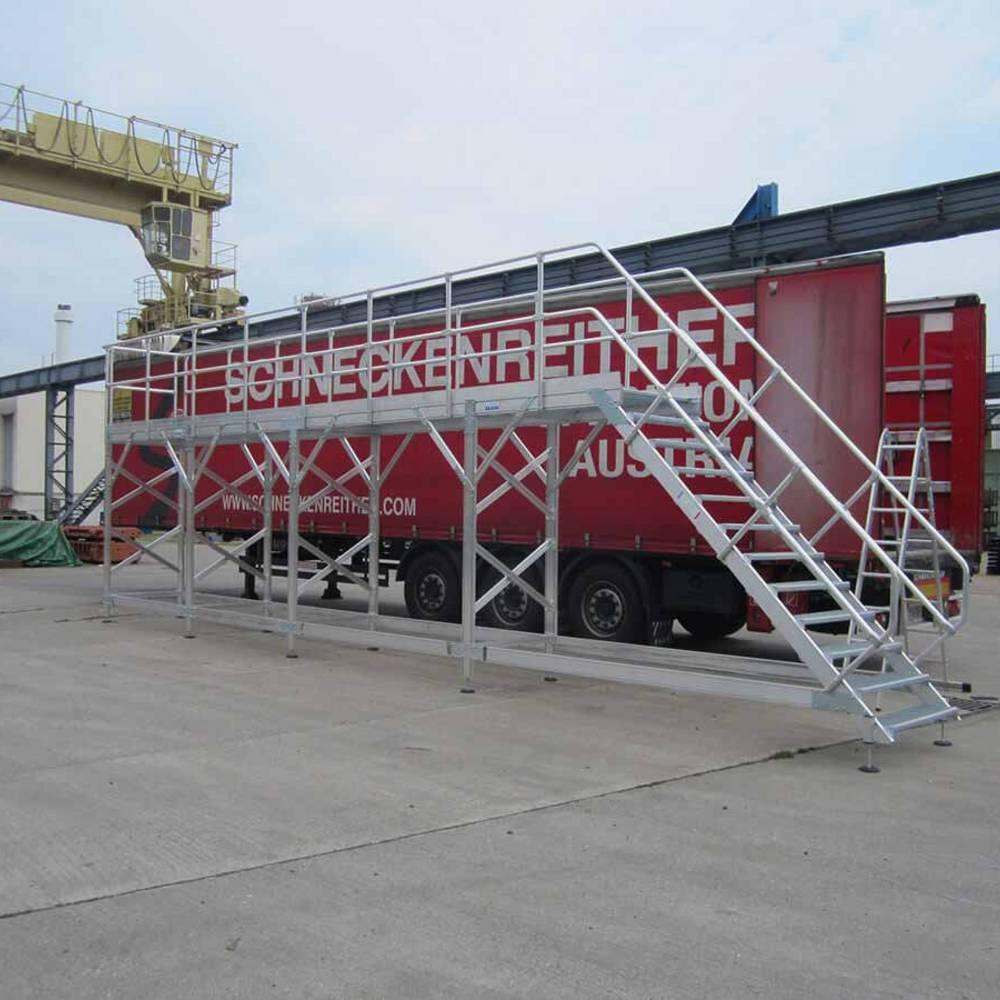 Stacjonarna platforma robocza służąca do konserwacji pojazdów użytkowych