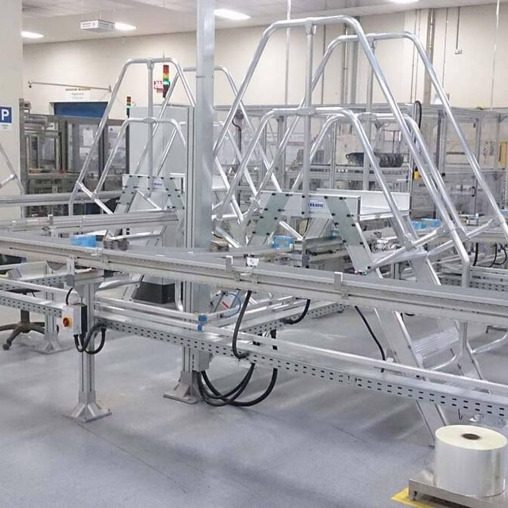 Przykład pomostów jako przejść ułatwiających procesy produkcyjne