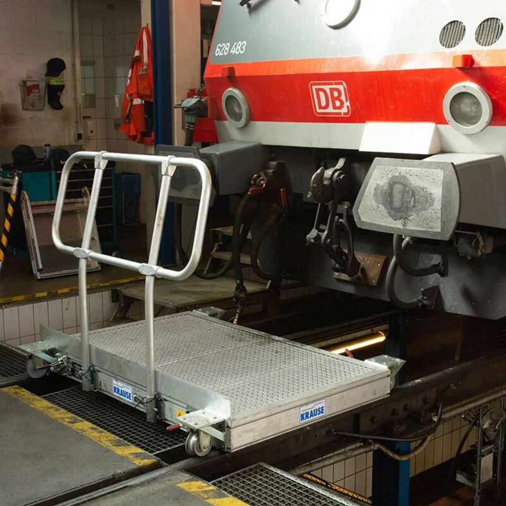 Przykład zastosowania jezdnej platformy roboczej z rolkami kołnierzowymi