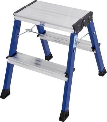 Jezdne schodki aluminiowe o wysokości roboczej do 2,65 m  (wersja 3-stopniowa), dostępne w różnych kolorach.