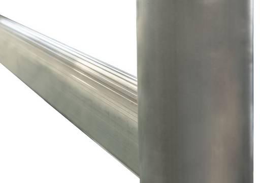 Rusztowanie składane, szczeble i podłużnice ze sprawdzonego profila tunelowego