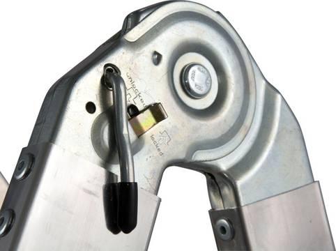 Drabina przegubowa teleskopowa ze szczeblami Telematic - dźwignia do komfortowego odblokowania przegubu