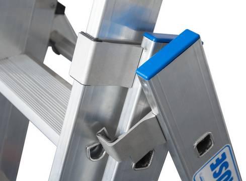 Drabina wielofunkcyjna  +S. Bardzo szeroki stabilizator zapewniający stabilność drabiny
