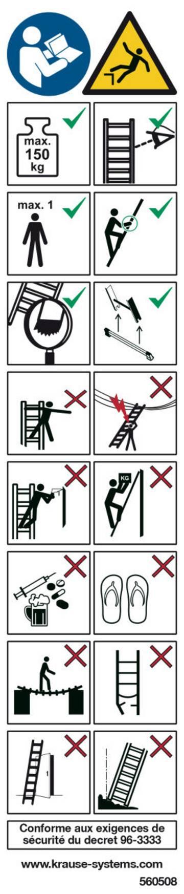 Do oznakowania drabin i schodków.