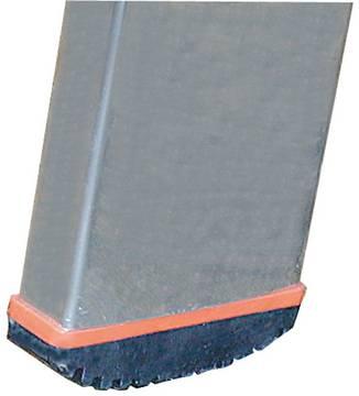 Drabina przystawna ze szczeblami, jednoelementowa Sibilo - antypoślizgowe stopki (Safetycap)