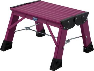 Lekki poręczny schodek aluminiowy dostępny w 5 ciekawych kolorach, idealny do domu lub biura.