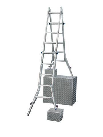 Wytrzymała teleskopowa drabina przegubowa z łatwą regulacją długości każdej nogi osobno, a tym samym z możliwością ustawienia na schodach. Może pełnić funkcję drabiny wolnostojącej, przystawnej oraz wygodnego pomostu roboczego (w połączeniu z platformą TeleBoard). Przygotowana do różnorodnych i kompleksowych zadań w zakresie pokonywania wysokości.