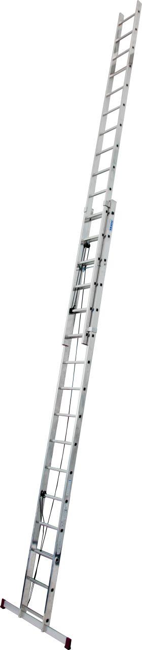 Drabina rozsuwana linką, dwuelementowa, drabina przystawna dla łatwej i szybszej zmiany wysokości roboczej