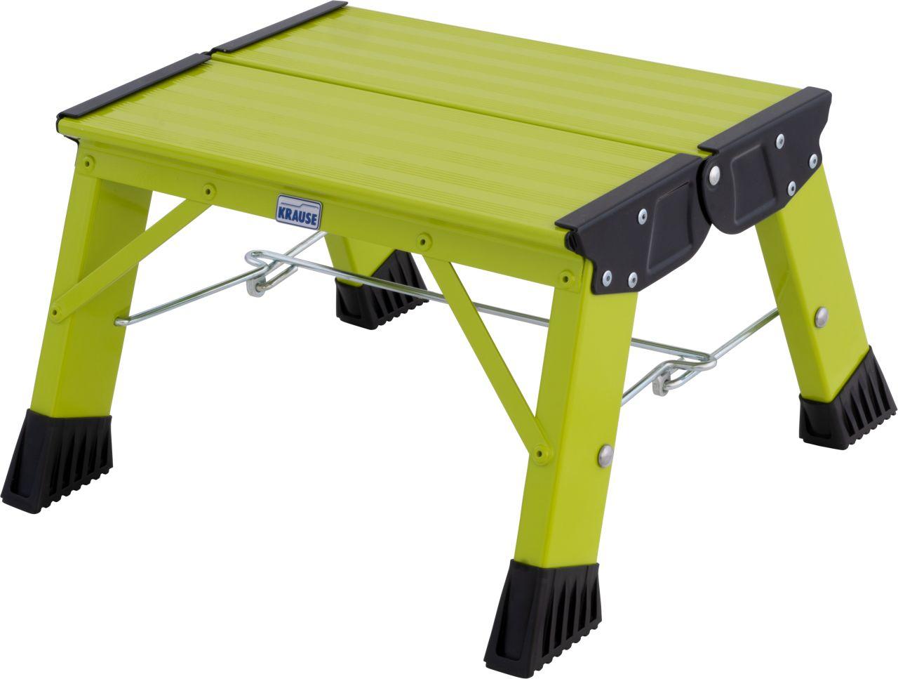 Schodek składany Treppy. Lekki, poręczny schodek aluminiowy dostępny w 5 ciekawych kolorach, idealny do domu lub biura