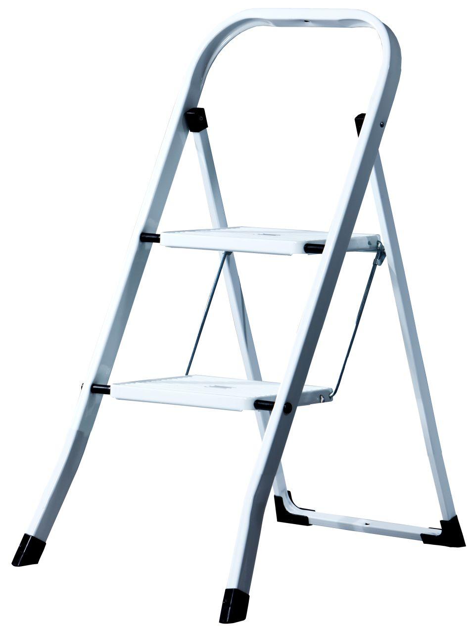 Schodki składane Toppy. Poręczne składane schodki stalowe