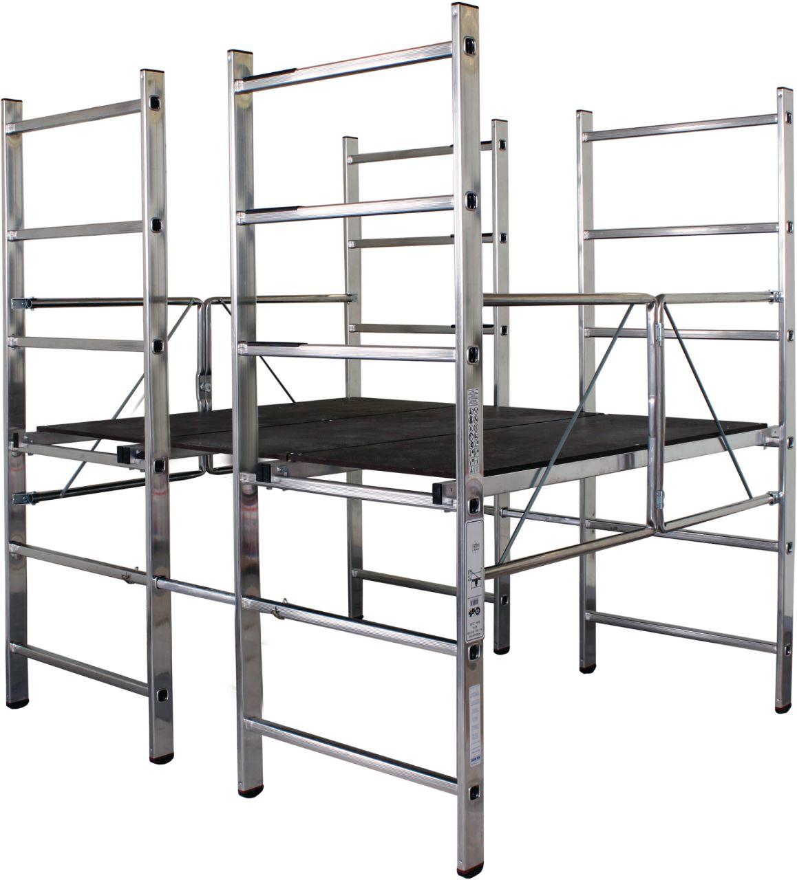 Rusztowanie składane podwójne - kompaktowe rusztowanie składane podwójne o maksymalnej wysokości roboczej ok. 2,80 m