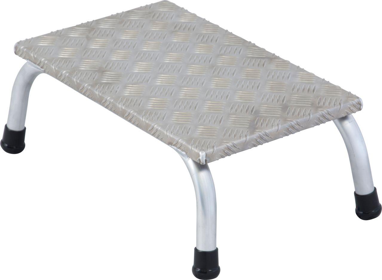 Schodki montażowe. Aluminiowe schodki montażowe z antypoślizgowymi stopniami do wymagających zastosowań  przemysłowych