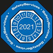 Naklejka kontrolna SafetyServices