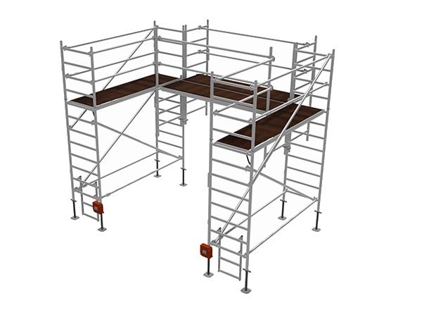 Specjalne rusztowanie aluminiowe do prac konserwacyjnych i montażowych